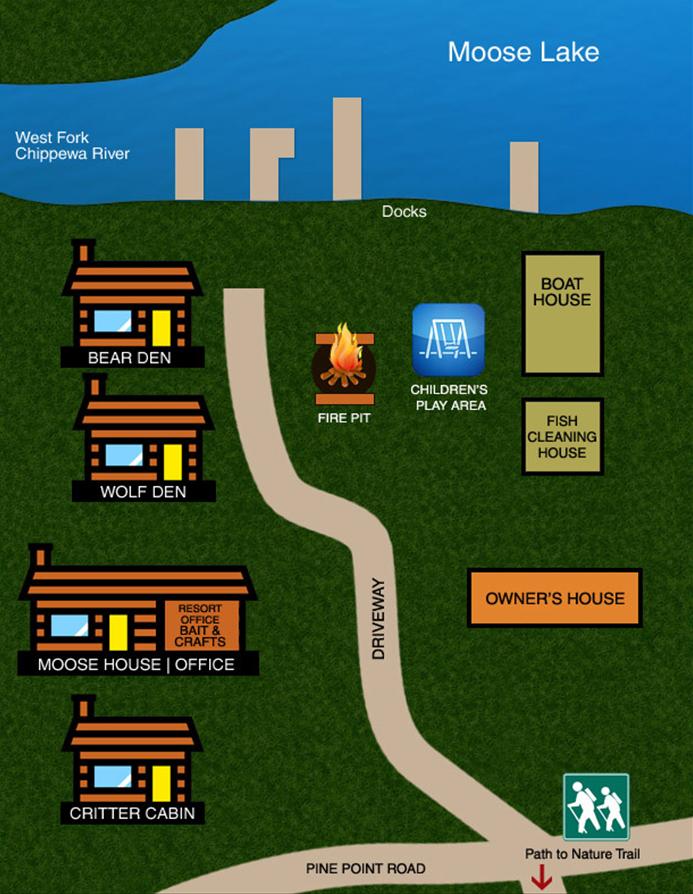 Hayward Wisconsin Resort Map